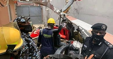 Helicopter crashes into residential building in Lagos